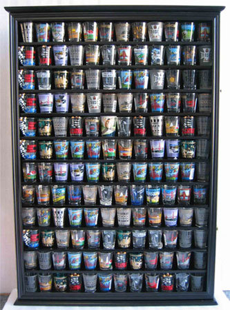 Shot Glass display cabinet