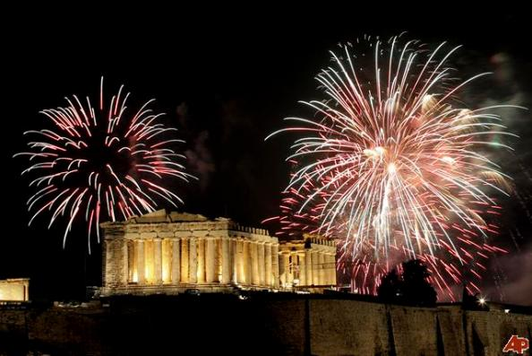 Athens will party even with financial problems and debt.  Greek wins