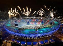 2012 London Olympics Stadium fireworks