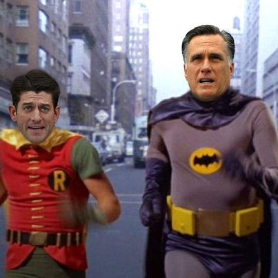 romney is wimpy batman ryan is dorky robin